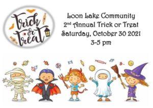 loon lake trick or treat
